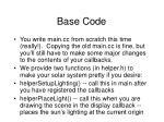 base code