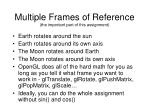 multiple frames of reference the important part of this assignment