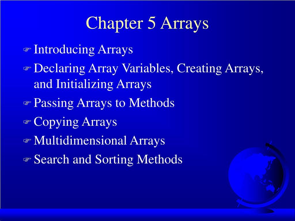 chapter 5 arrays l.