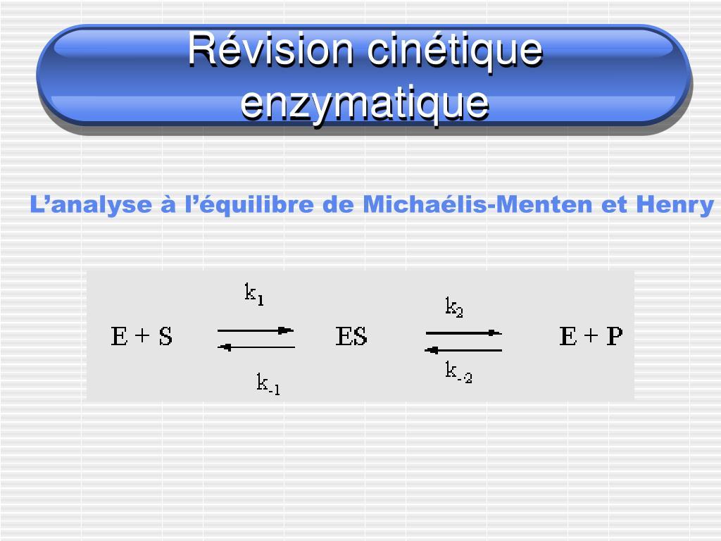 r vision cin tique enzymatique l.