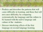 contrastive analysis ca