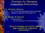strategies for managing competitive relationships