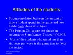 attitudes of the students19