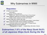 why submarines in wwii