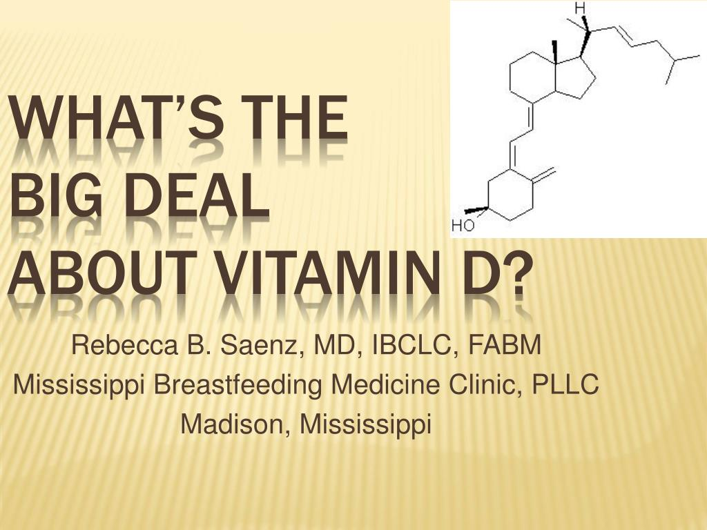 what s the big deal about vitamin d l.
