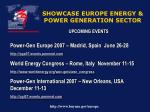 showcase europe energy power generation sector