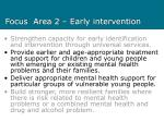 focus area 2 early intervention