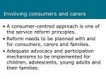 involving consumers and carers