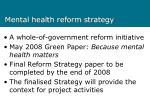 mental health reform strategy