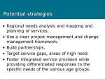potential strategies