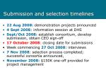 submission and selection timelines