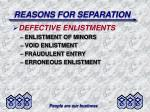 reasons for separation17