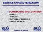 service characterization