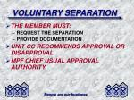 voluntary separation