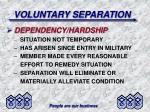 voluntary separation10