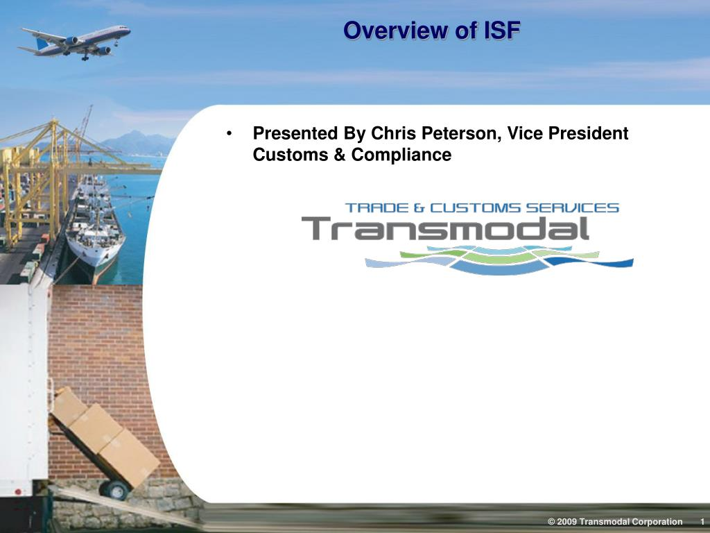 overview of isf l.