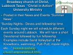 broadway church of christ lubbock texas christ in action university ministry18