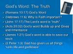 god s word the truth
