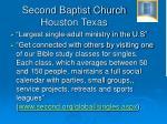 second baptist church houston texas