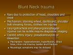 blunt neck trauma