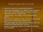 diaphragmatic injuries
