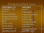 penetrating neck injury
