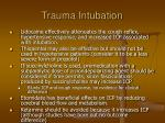 trauma intubation
