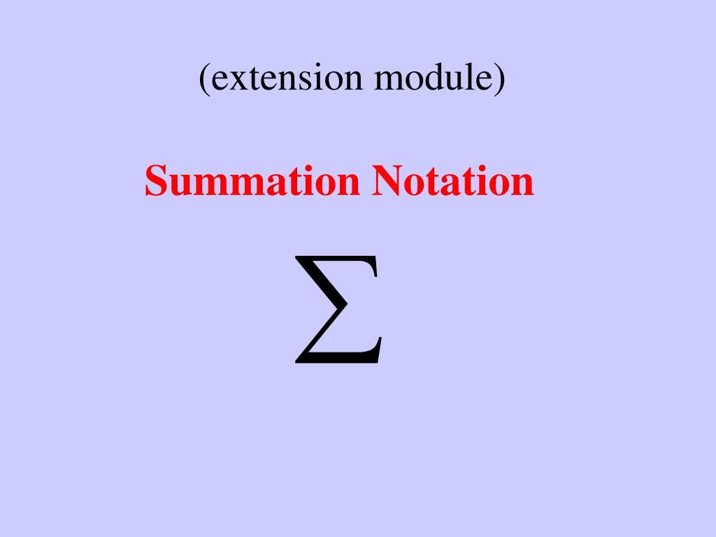 (extension module)