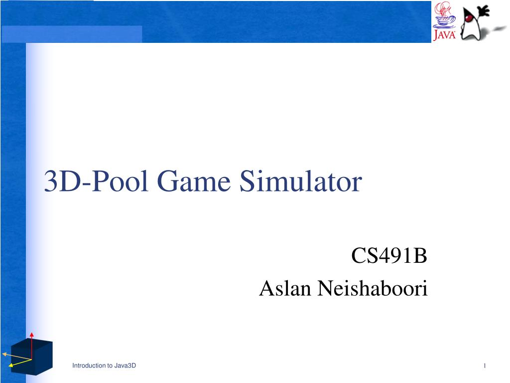 3d pool game simulator l.