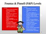 fountas pinnell f p levels13