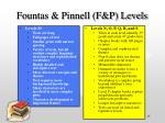 fountas pinnell f p levels15