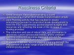readiness criteria6