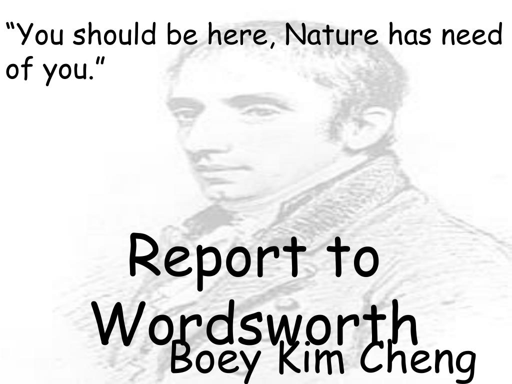 report to wordsworth l.