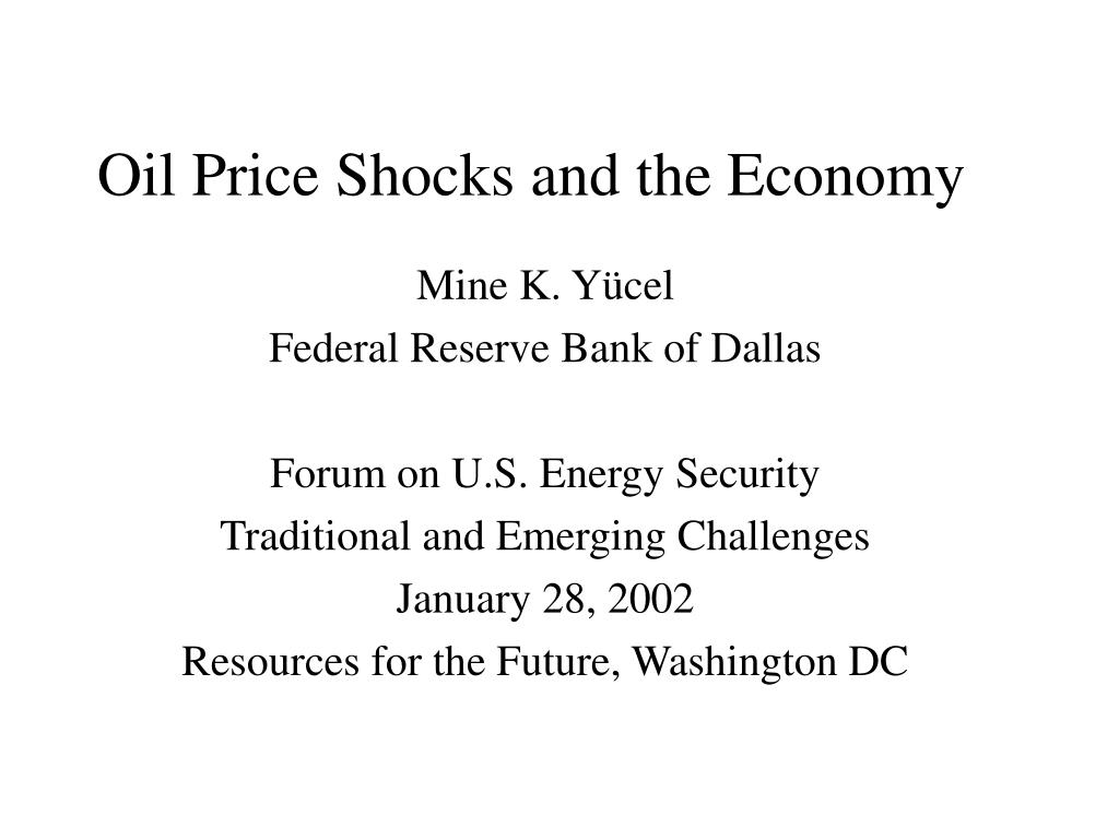 oil price shocks and the economy l.