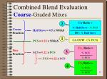combined blend evaluation coarse graded mixes