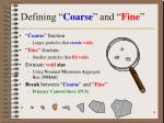 defining coarse and fine