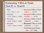 estimating vma or voids trial 2 vs trial 1