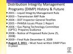 distribution integrity management programs dimp history future