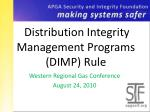 distribution integrity management programs dimp rule