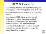 gptc guide cont d