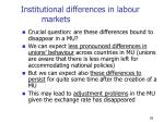 institutional differences in labour markets