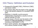 oca theory definition and evolution