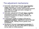 the adjustment mechanisms