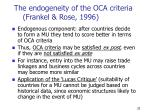 the endogeneity of the oca criteria frankel rose 1996