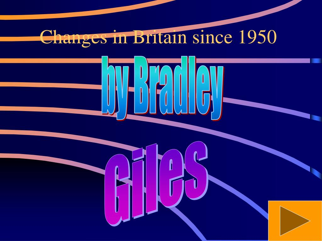 changes in britain since 1950 l.