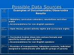 possible data sources27