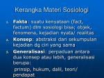 kerangka materi sosiologi