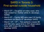 sars in toronto 3 first spread outside household