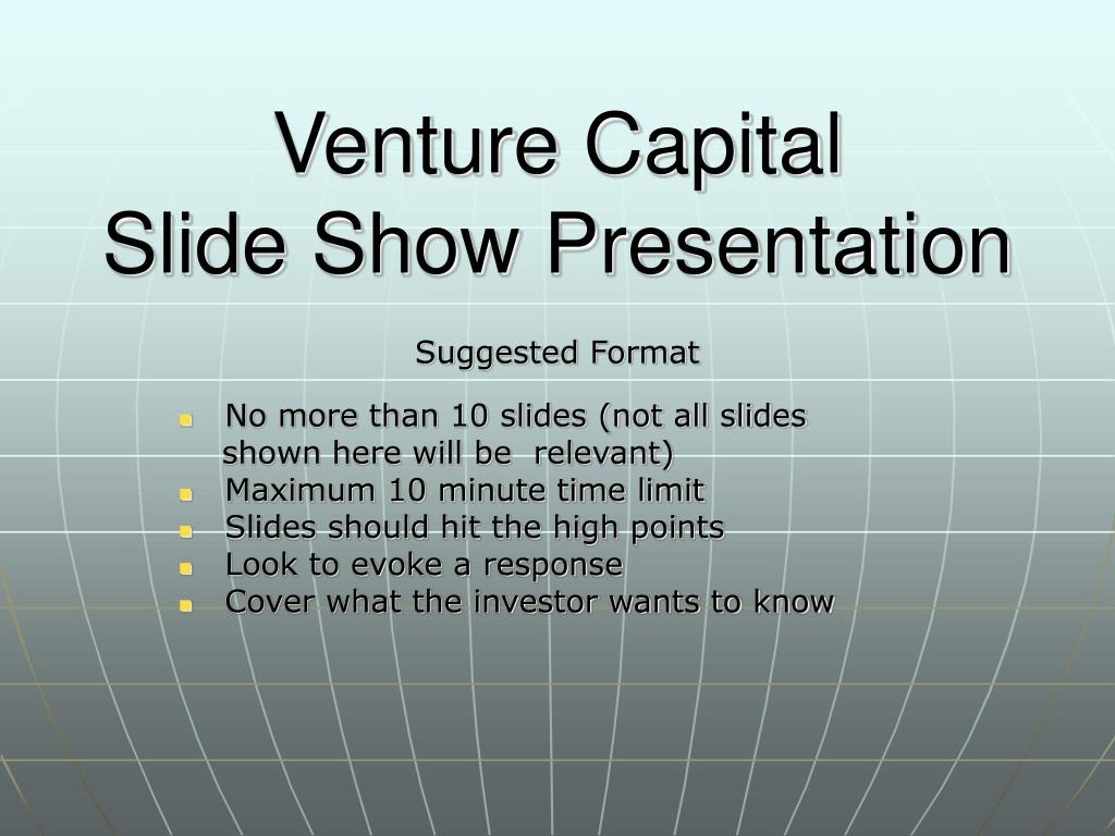 venture capital slide show presentation l.