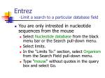 entrez limit a search to a particular database field